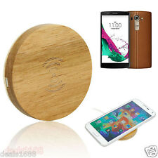 Wooden Qi Standard Wireless Charger Charging Pad Dock Mat For LG G4 For Samsung