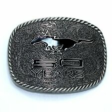 FORD MUSTANG 50 YRS WESTERN STYLE COLLECTIBLE DIE-CAST BELT BUCKLE SPEC-CAST NEW