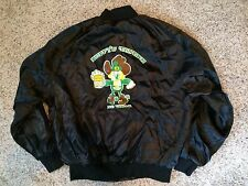 VINTAGE 1980's DUFFY'S TAVERN LAS VEGAS SATIN BAR JACKET XL Casino Black