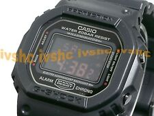 CASIO G-Shock DW5600MS-1 DW-5600MS-1 ALL BLACK RED EYE Free Ship!
