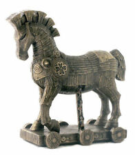10.75 Inch Legendary Trojan Horse Battle of Troy Statue Figure Figurine Greek