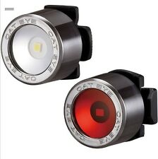 NEW Cateye Nima LED Light Set Front & Back Red & White Rear BMX Mountain bike DH