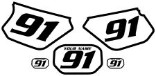 1991-2003 Yamaha DTR 125 Pre-Printed White Backgrounds Black Bold Pinstripe