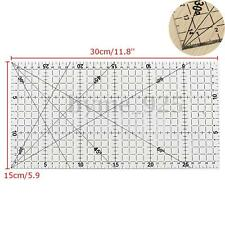 30 x 15cm Acrylic Quilt Ruler Quilting Sewing Patchwork Foot Aligned Ruler Grid