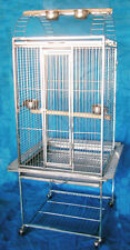 304 Stainless Steel Parrot Cage Play Top Bird Cage Cockatoos Macaws ST66P
