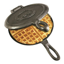 Camping Waffle Maker Cast Iron Pan Stove Top Indoor Outdoor Cooking Campfire