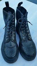 Genuine Dr Martens Womens  Black Leather Boots Size UK 8 EU 42 US 10