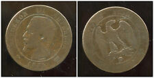 FRANCE  FRANCIA  10 centimes NAPOLEON III   1855 D  ancre  (1)