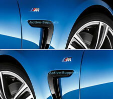 2 ///M Sport Small Emblem Sticker Side Wing M Power Badge Metal Chrome Bmw NEW