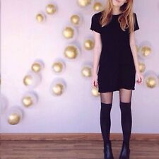 last one!  Brandy melville Black fitted Ribbed crewneck Jenelle Bodycon Dress