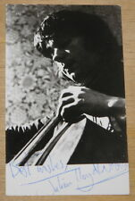 JULIAN LLOYD WEBBER NICELY AUTHENTIC HAND SIGNED PROMO POSTCARD CLASSICAL CELLO
