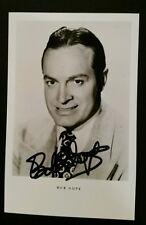 Bob Hope  Original-Autogramm Original autograph Netter Karte
