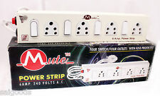 Extension Cord Board - Metal Body- 4 Socket + 4 Switch - 6 AMP - Power Strip!!!