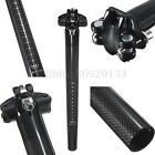 3K Carbon Fiber MTB Road Mountain Bike Bicycle Cycling Seatpost 27.2/30.8/31.6mm