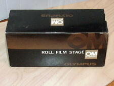 OLYMPUS OM ROLL FILM STAGE FOR MACRO BELLOWS WITH SLIDE COPIER NEW IN BOX