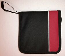 48X CD DVD DISC STORAGE HOLDER CARRY CASE WALLET BAG COMPACT LIGHTWEIGHT- RED