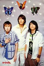 "W-INDS ""3 BANDMATES, 3 BUTTERFLIES"" ASIAN POSTER - J-Pop Japan Music Superstars"