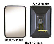 Außenspiegel Rückspiegel Fendt Case IH Fella 310x210 mm ø18 mm Halter n.beheizt