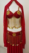 sexy egyption suit Belly Dance very heavy Embroidered sequined and beaded 4 pics