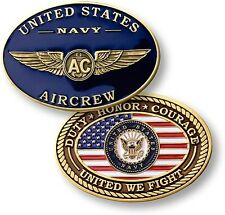 "U.S. Navy - Aircrew ""United We Fight"" - USN Bronze Challenge Coin"