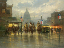 Cowhands on the Avenue by G. Harvey Giclee on Canvas - Signed & Numbered / NEW