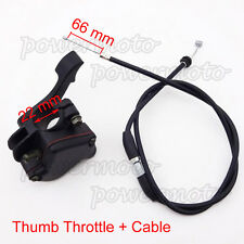 Thumb Throttle Control Housing Cable For 50 70 90 110 125cc Kazuma Sunl ATV Quad