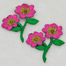 Beautiful flowers -daisies  Embroidery Iron/sew on patch applique badge Motif