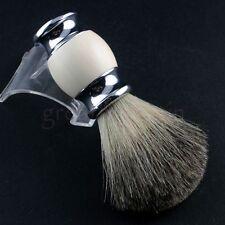 100% Pure Badger Hair Wet Shaving Brush Tool Shave Razor Men Gift Salon NEW