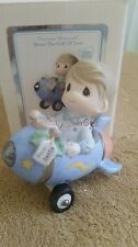 Enesco Precious Moments Hold On To Your Dreams 101030 Boy Airplane