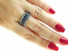 TURKISH HANDMADE 925 SILVER JEWELRY SAPPHIRE RING S 7.5 VICTORIAN STYLES R2013