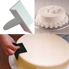 Dough Cake Icing Decorating Supplies Smoother Curve Edge Scraper Cake Cutting CA