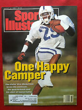 1991 ERIC DICKERSON - ONE HAPPY CAMPER ON THE COLTS  Sports Illustrated