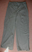 New 10 Topshop Olive Camo green Wide Leg Light weight Cotton Jean Trousers