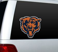 """BIG 12"""" CHICAGO BEARS CAR HOME PERFORATED WINDOW FILM DECAL NFL FOOTBALL"""