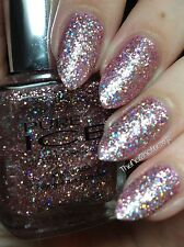 Pure Ice Spit Fire Spitfire holographic glitter pink nail polish VHTF!