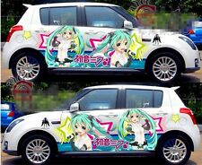 A Pair Manga Anime Girl Full Color Car Graphics Vinyl Decal Sticker Fit any Car