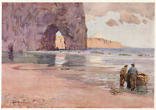 South Shields shore Durham Heaton Cooper vintage print in mount ready to frame