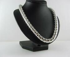 Beautiful 925 Sterling Silver Fancy Necklet Choker Chain 17 Inches 43 Grams Case