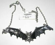 "Alchemy of England GOTHIC BAT Necklace, Goth Vamp Vampire Nosferatu...bat 5""long"