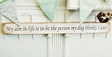 DOGGY SHABBY CHIC WALL ART WOODEN HOUSE SIGN PLAQUE GIFT PRESENT BY AUSTIN SLOAN