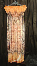 LONG MAXI BANDEAUX TUBE SLINKY KNIT TRAVEL COCKTAIL SUN DRESS~XL~L~0X~XXL~NW