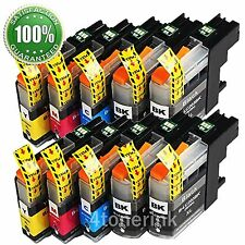 10PK LC203 XL High Yield Compatible Ink Cartridges For Brother MFC-J460DW J480DW