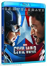 CAPTAIN AMERICA - CIVIL WAR (BLU-RAY) Robert Downey Jr, Scarlett Johansson