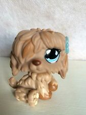 Littlest Pet Shop LPS Sheepdog #678 Sportiest tan brown dog blue eyes 9 pictures