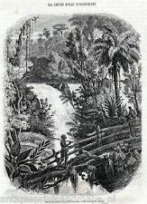 Antique print Brazil / Itamaraty Waterfall in the Serra da Estrela 1854