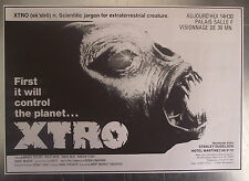 Publicité XTRO,ek'stro, 1982, cinema  , clipping