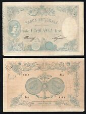 *R2* 50 lire Italia Banca Nazionale Nel Regno 1893 *R2*