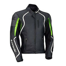 KAWASAKI-Motorcycle Leather Jacket Racing Biker Motorcycle Cowhide Leather (Rep)