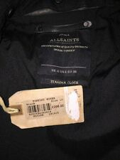 RRP £298 BNWT All Saints Spitafields Italian Cloth  Fontini Biker Jacket S.10
