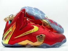"NIKE LEBRON XI ELITE SE ""CHAMPIONSHIP PACK"" RED/GOLD SIZE MEN'S 8 [695226-670]"